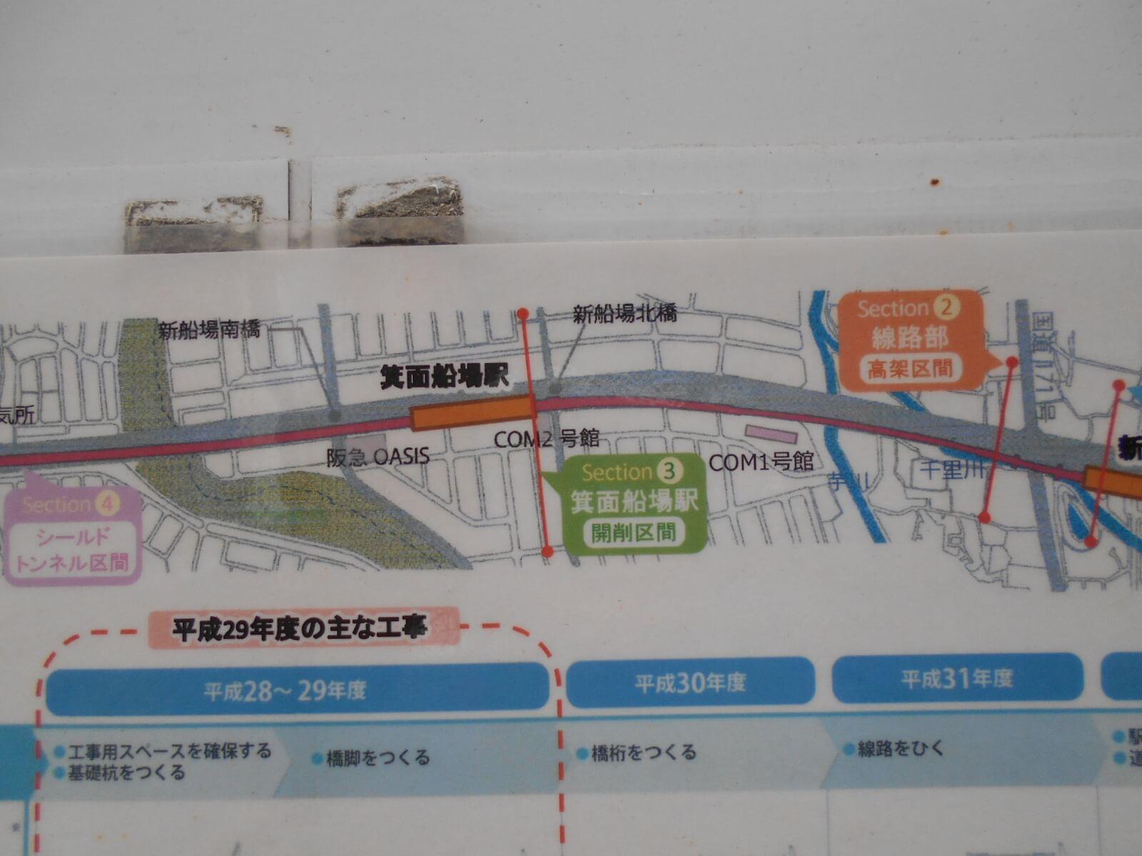 箕面船場阪大前駅