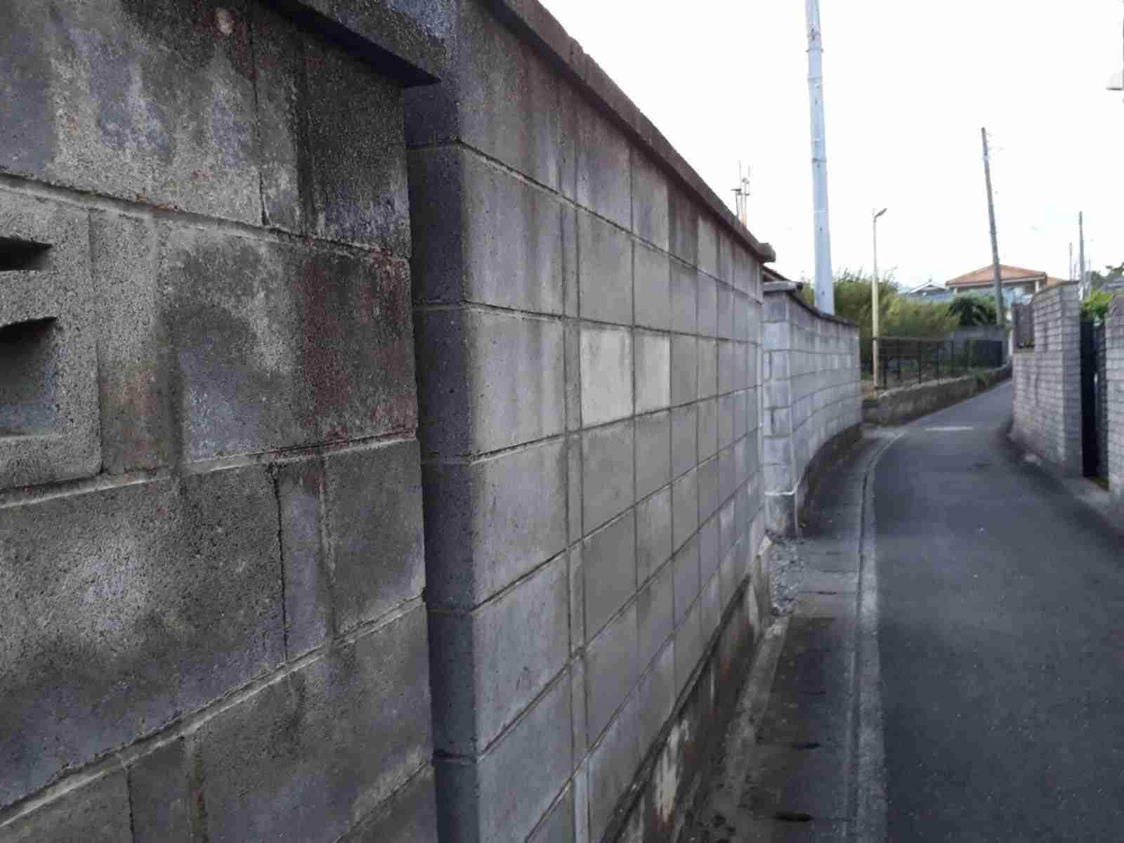 池田市ブロック塀