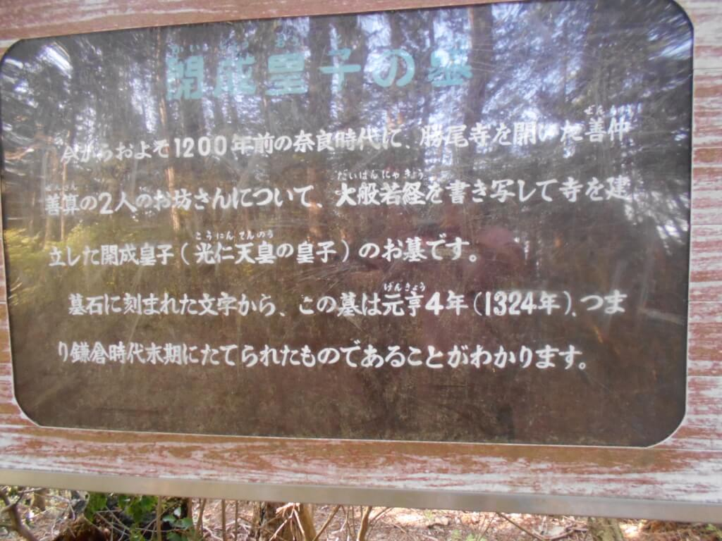 開成皇子の墓