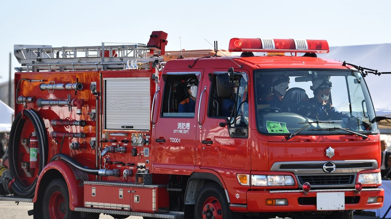 池田市で火事
